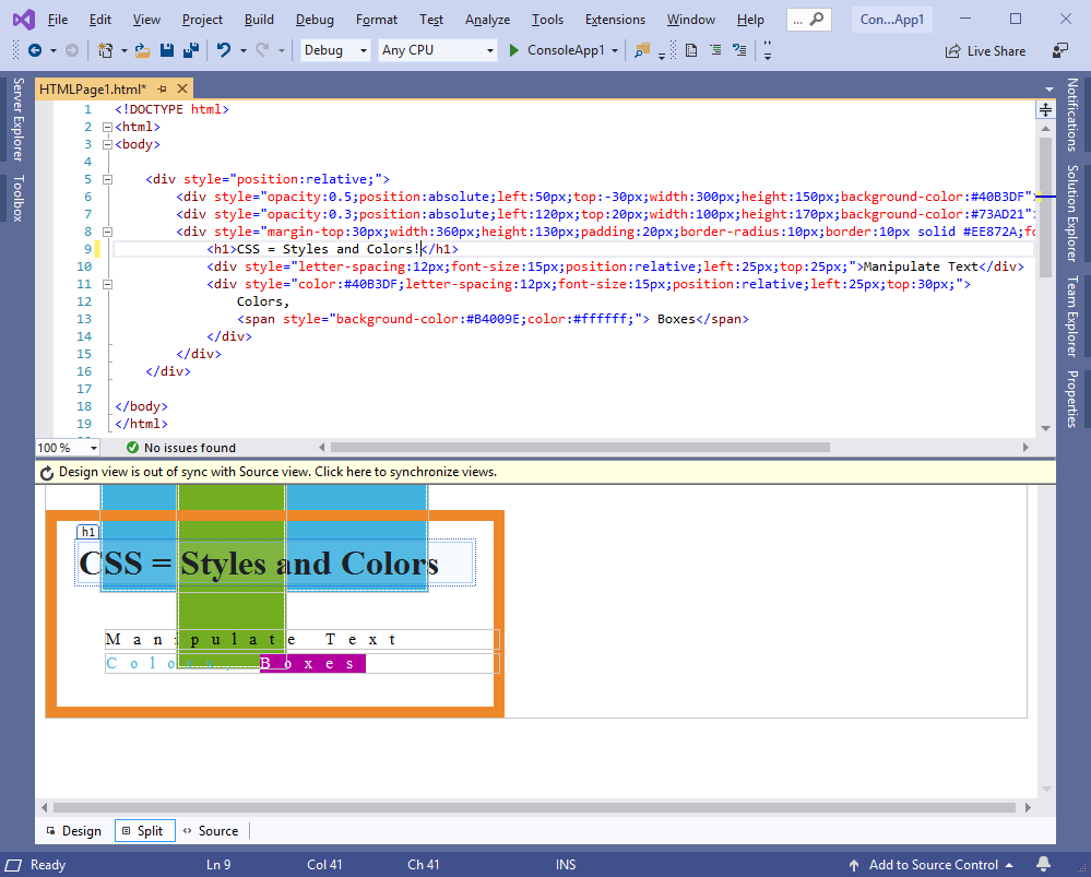 HTML preview in Visual Studio 2019 - Best in class Visual ...