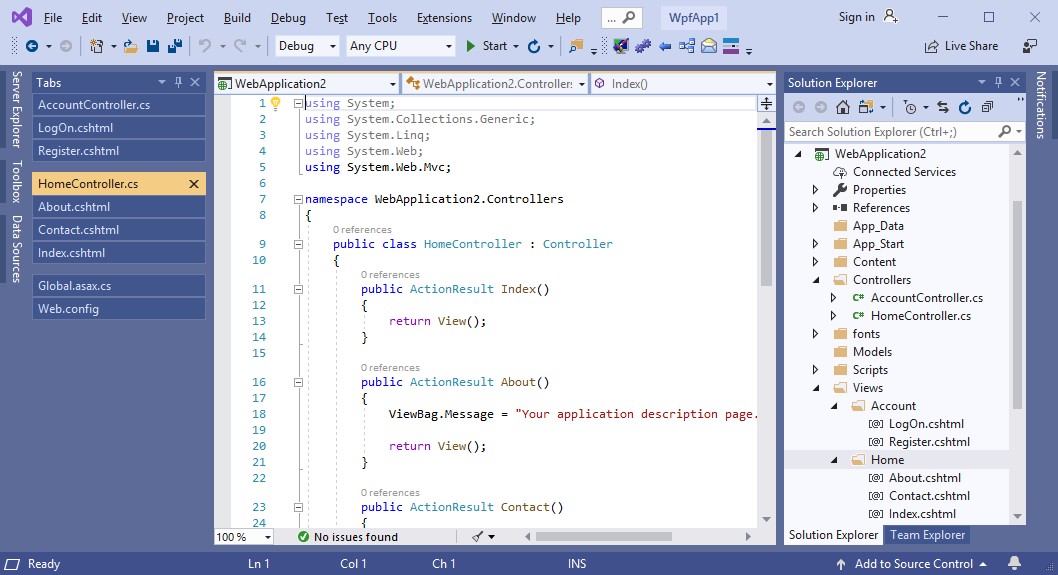 Intelligent document tabs grouping in Visual Studio