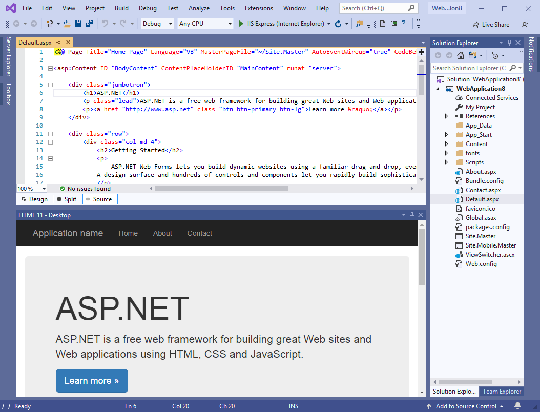 Html 11 Instant Live Web Pages Preview In Visual Studio Vlasov Studio Best In Class Visual Studio Extensions And Tools