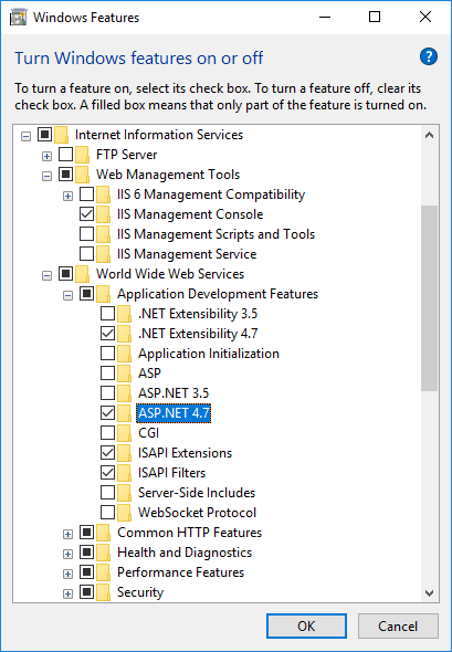 Monitoring a web application in IIS 10 - Runtime Flow
