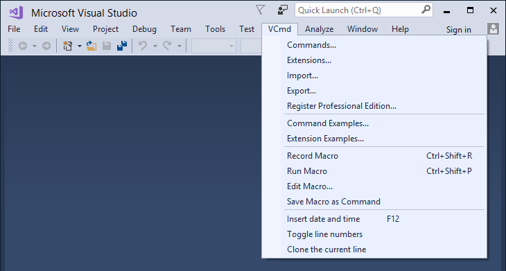 Vlasov Studio Visual Commander v3.1.3 (extension for Visual Studio 2019/2017/2015)